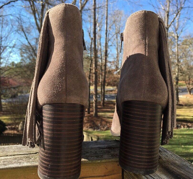 Arturo Chiang  Reiden Fringe Side Zip Ankle Stiefel Größe 10M
