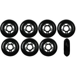 Inline-Skate-Wheels-80mm-89A-Outdoor-Black-Rollerblade-Hockey-8-Pack
