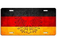 German Flag License Plate - Germany Eagle Vanity Auto Tag Car Truck Deutschland