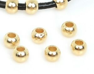 50-Piece-Lot-18k-Gold-8mm-Beads-Spacers-For-Bracelets-Bangle-DIY