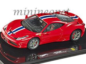 HOT-WHEELS-ELITE-BLY45-FERRARI-458-ITALIA-SPECIALE-1-43-Auto-Modello-Diecast-rosso