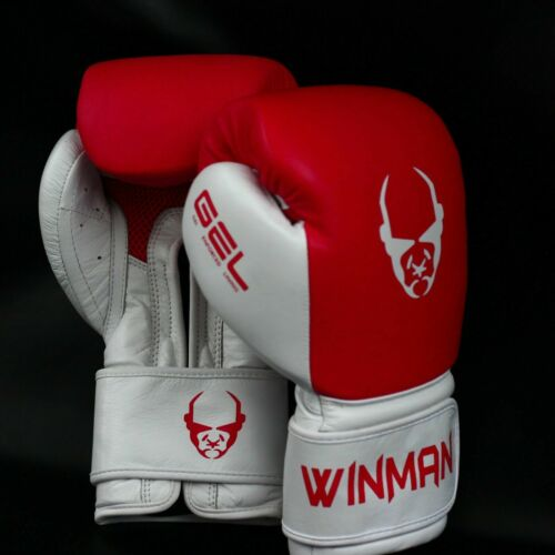 Winman Leather Boxing Gloves Punching Training Mitts Fighting Cage Kickboxing