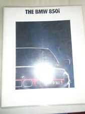 BMW 850i brochure 1991 Ed 2 large format USA market