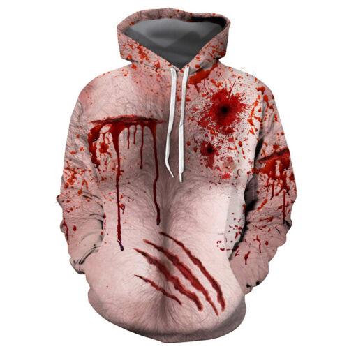 3D Muscle Printed Hoodies Sweatshirts Sweater Jacket Coat Tops Funny Surprise