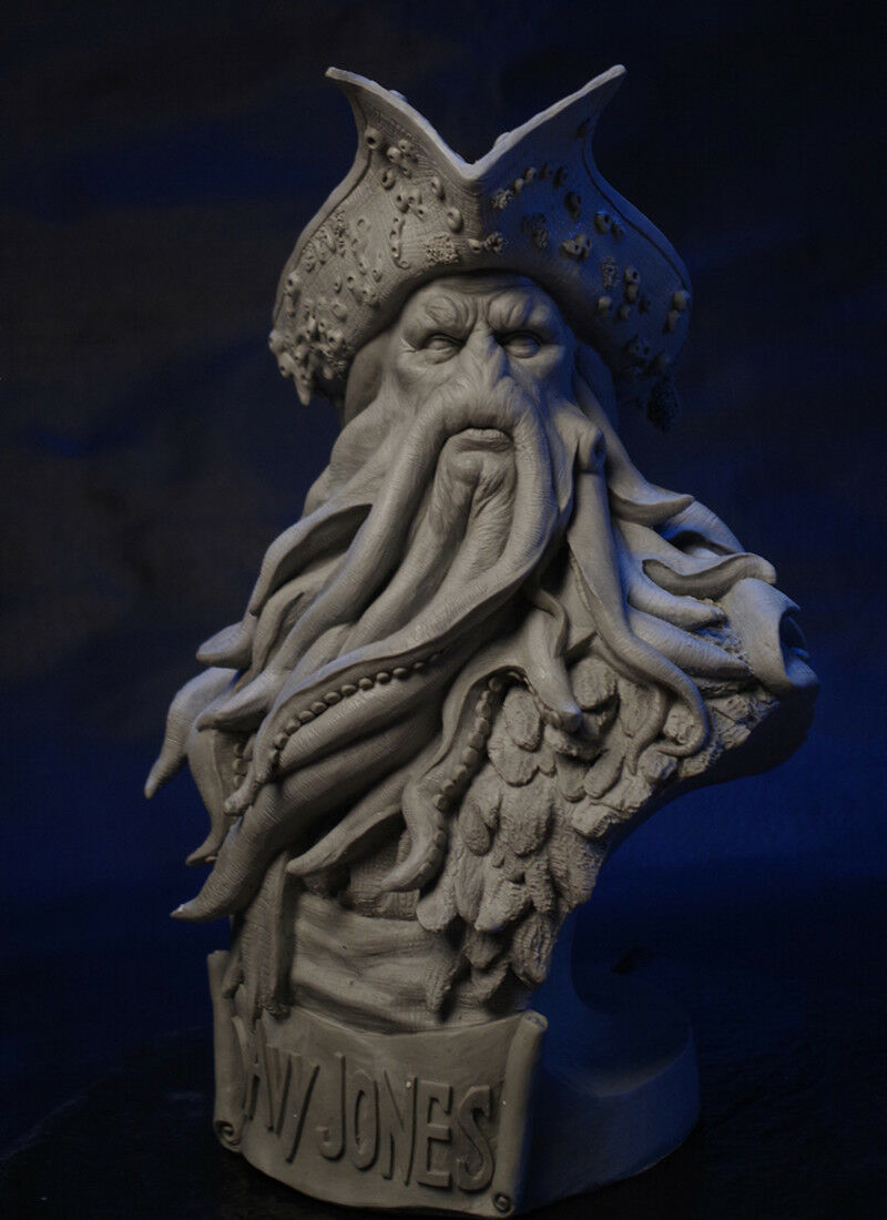 Pirates of the Caribbean Davy Jones 1 3 Scale Collection GK Bust Sculpture Gift