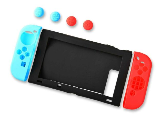 Nintendo Switch Console and Joy Con Controller Silicone Protective Cover Set UK