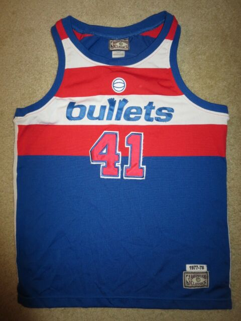 b7e00f78f Wes Unseld 1978 Washington Bullets Wizards NBA Jersey Youth L 14-16 children