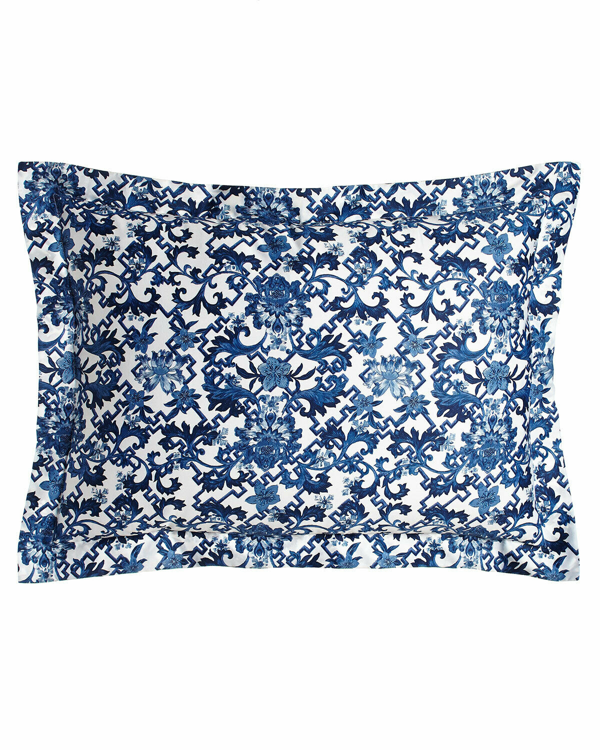 Ralph Lauren Dorsey Standard Pillow Shams White & blueee