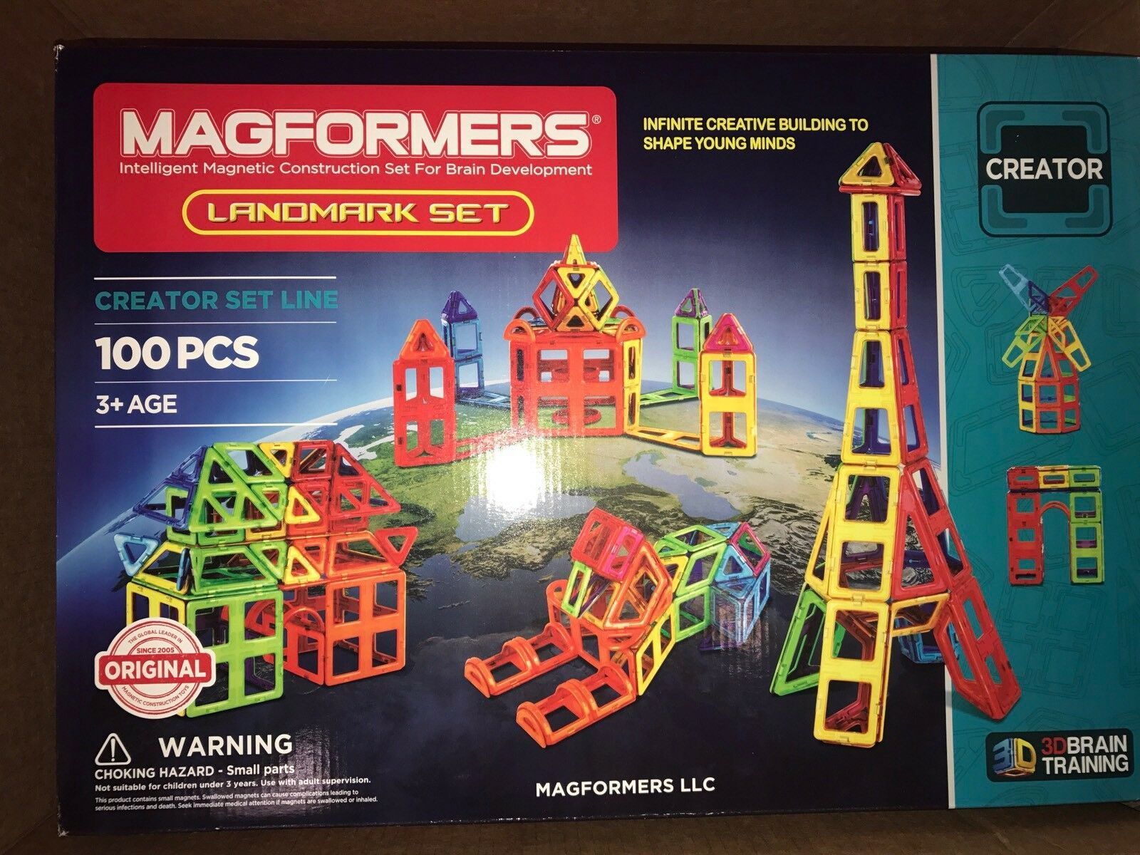 Brand New In Box Magformers Landmark Set 100 Pieces Free Shipping