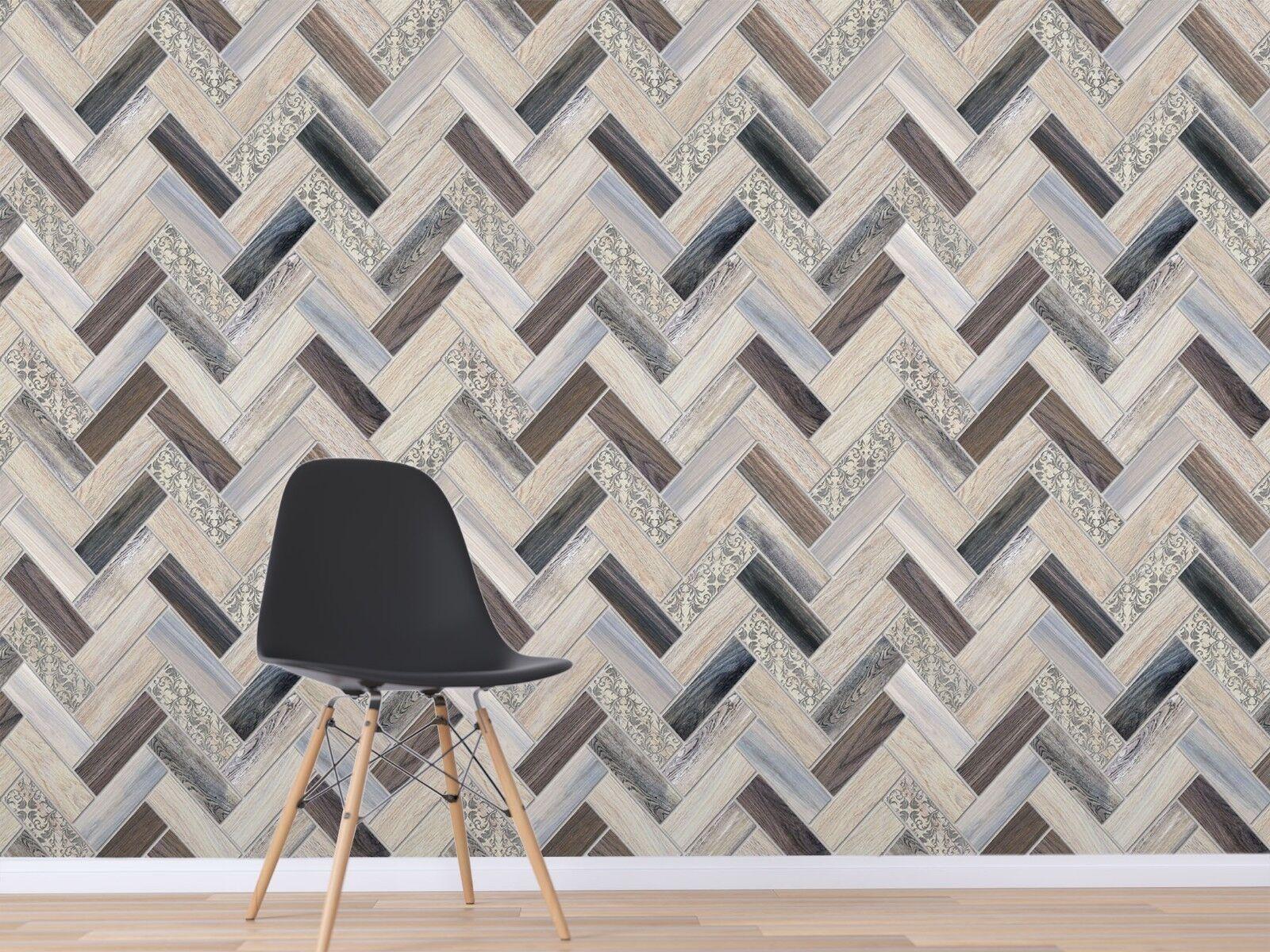 3D Wooden Board Pattern 3 Texture Tiles Marble Wall Paper Decal Wallpaper Mural