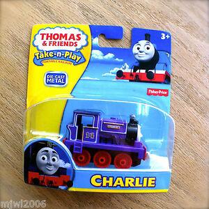 Thomas-amp-Friends-CHARLIE-Take-N-Play-diecast-Steamie-14-train-tank-engine-purple
