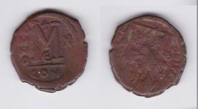 Constantinopolis Byzanz Justin Ii 126994 Das Beste Bronze Münze Follis 565-578 N.chr