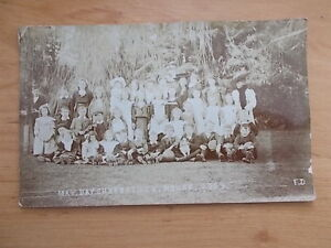 VINTAGE-1909-POSTCARD-MAY-DAY-CHARDSTOCK-HOUSE-SCHOOL-CHARD-SOMERSET-RP
