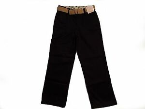 NWT Boy/'s Gymboree Uniform khaki adjustable pants w// belt ~ 4 slim FREE SHIPPING