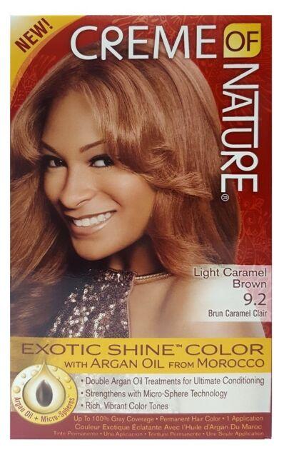 Creme Of Nature Exotic Shine Permanent Haarfarbe Hell Karamell Braun