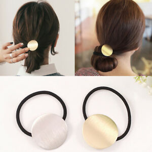 Details About Women Korean Style Metal Simple Headband Head Piece Elastic Hair Band Rope New