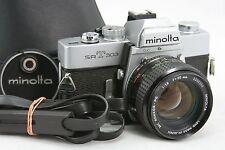 Minolta SRT 303, vintage 35mm SLR camera & MC Rokkor-PG lens 1:1,4/50mm