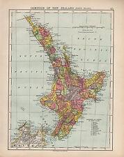 1924 PRINT ~ DOMINION OF NEW ZEALAND NORTH ISLAND ~ KIWITEA HAWERA MAKARA ETC