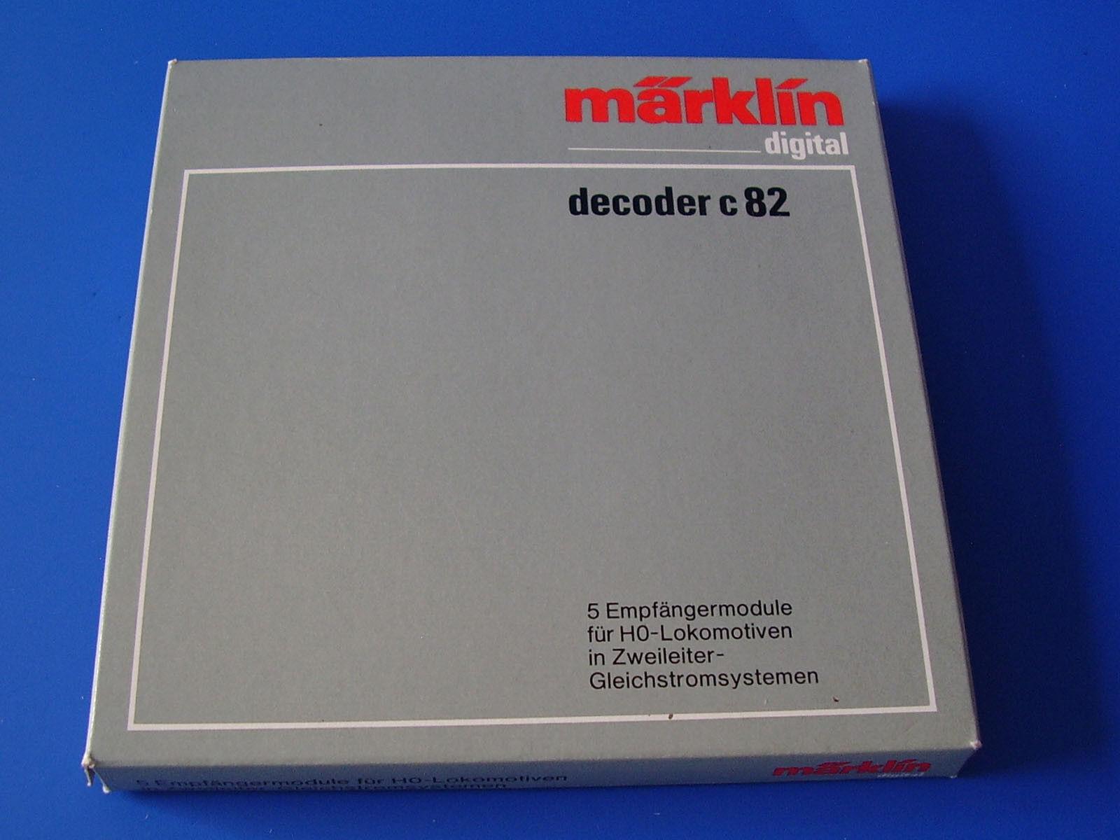 Märklin - 6082 - 5x Decoder C 82 OVP-Digital New