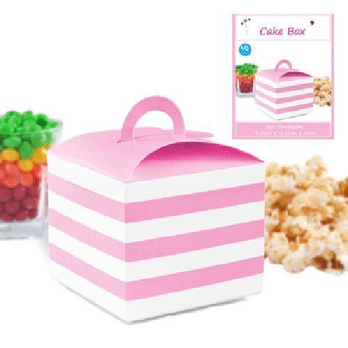 4 X BLACK POLKA DOT CAKE BOX CANDY LOLLY BOX SHMICK PARTYCAKE BOXES