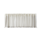 VHC Brands Tobacco Cloth Antique White Valance Fringed 16x90