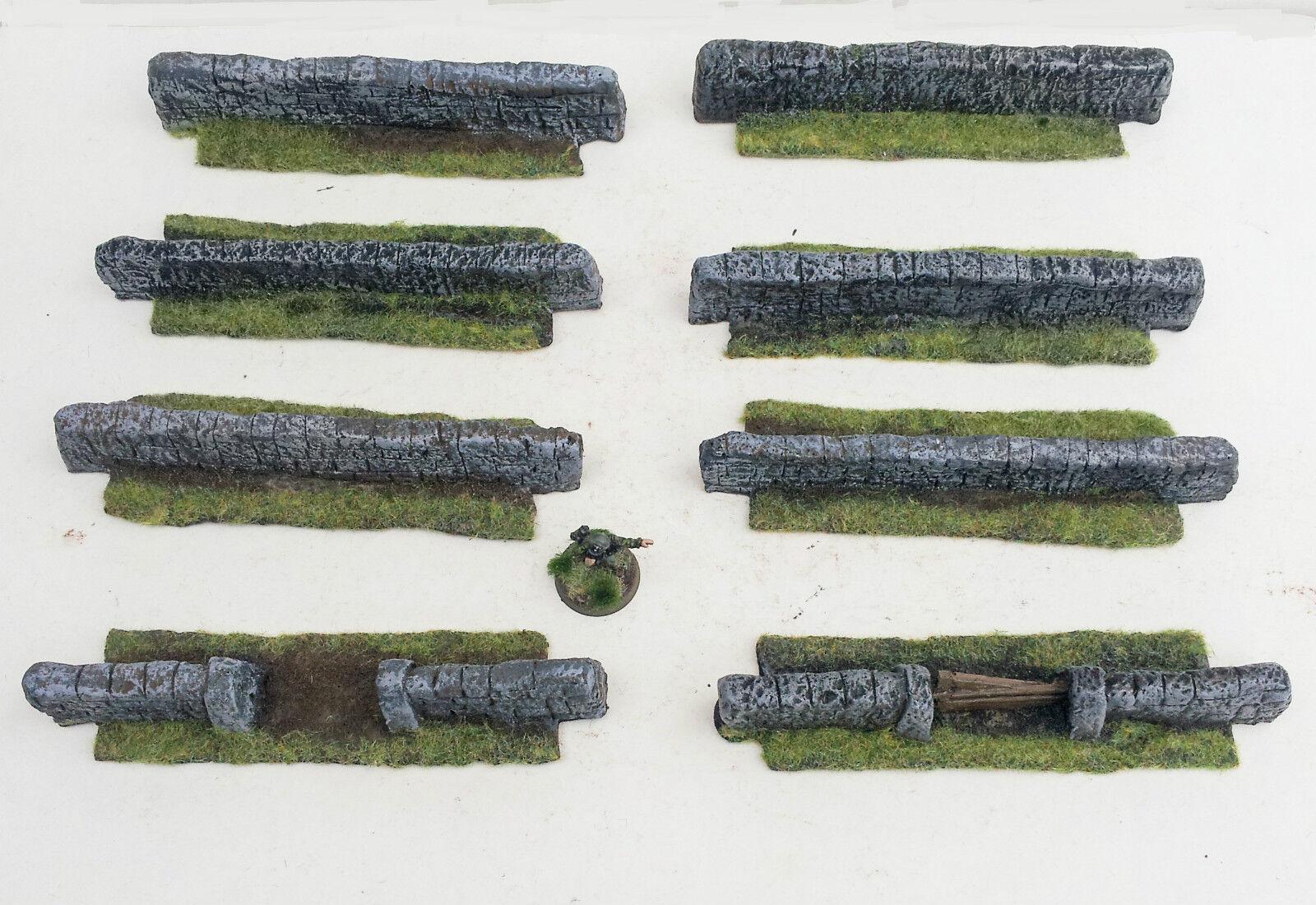 World War 2 Mandertory Miniatures resin 28mm Wall set, 4ft, Bolt Action