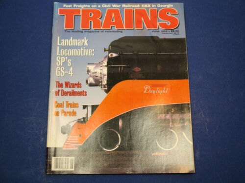 Trains,The Magazine of Railroading, June 1993 , Landmark Locomotive SP's GS4
