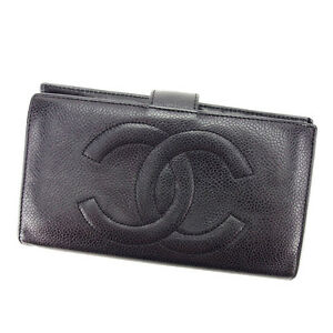 Chanel-Wallet-Purse-Coin-purse-COCO-Black-Woman-unisex-Authentic-Used-T3181