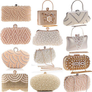 Purse-Handbag-Pearls-Envelope-Evening-Clutch-Crossbody-Bags-Wedding-Shoulder-Bag