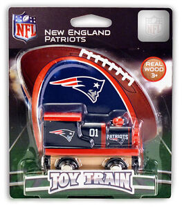 NEW ENGLAND PATRIOTS WOOD TRAIN NEW & OFFICIALLY LICENSED