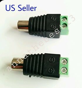 2 pcs speaker wire cable to female rca connector adapter jack plug bose. Black Bedroom Furniture Sets. Home Design Ideas