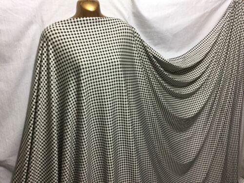 NEW*Premium Quality Stretch Viscose Jersey Monochrome Gingham Print