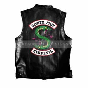 Harley Mode Side Riverdale Moto Veste Veste Pour Cuir De En Serpents South Hommes De 8aUgacA
