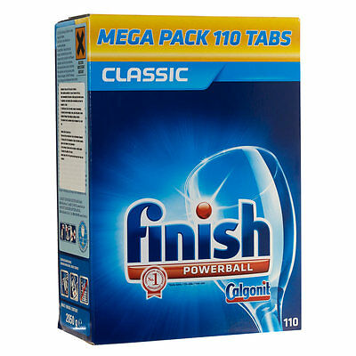 FINISH POWERBALL CLASSIC 110 PACK DISHWASHER TABLETS - LARGE MEGAPACK 110 TABS