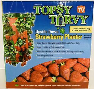 Strawberry-Planter-Vegetable-Herb-UpsideDown-Hanging-Topsy-Turvy-T