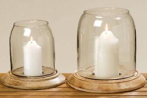Windlicht-034-Careo-034-Holz-Glas-braun-H-22-cm-oder-H-30-cm