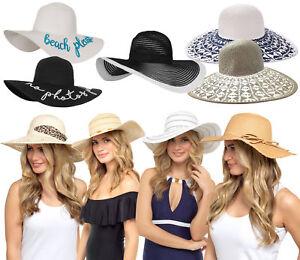 590e6811ffc Womens Wide Brim Floppy Sun Hat Crushable Foldable Beach Summer Hat ...