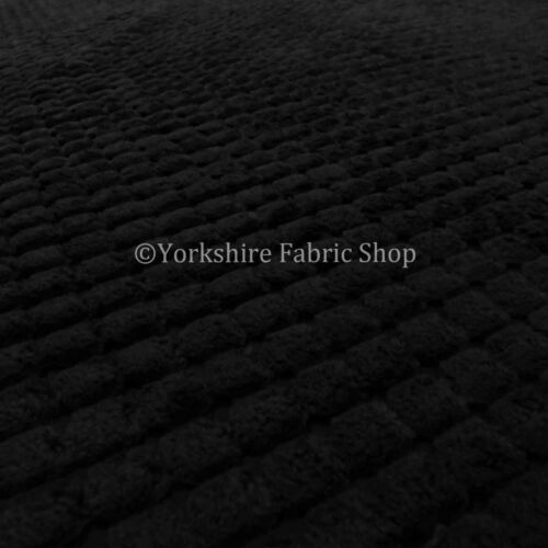 Black Colour New Super Soft Thick Brick Pattern Jumbo Corduroy Upholstery Fabric