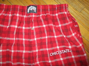 Ohio State Concepts Sports Red Black Plaid Flannel Lounge Pajama Pants Medium