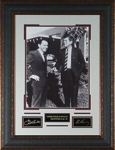 Frank-Sinatra-amp-JFK-Photo-Laser-Signed-Engraved-Framed-John-Kennedy-RP