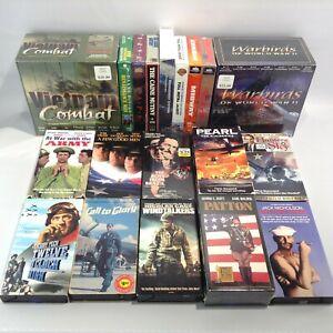 VHS War VIETNAM COMBAT Military MOVIE LOT Warbirds Patton Windtalkers Good Men