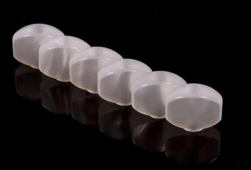 NEW White pearloid 6 Genuine Sperzel #5 Upgrade Buttons