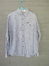 BILLABONG CHAMBRAY STYLE LIGHT SUMMER COTTON LONG SLEEVE SHIRT SIZE LARGE L SLIM