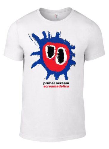 PRIMAL SCREAM Movin on up Screamadelica tshirt ALLSIZES Tee roses Oasis Indie LW