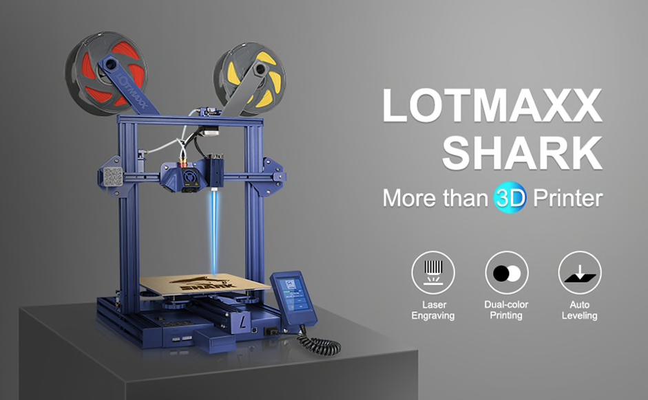 LOTMAXX 3D Printer Laser Engraving Bi-Color Printing Auto-leveling