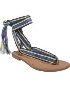 Women-039-s-Sam-amp-Libby-Blossom-Braided-Wrap-Gladiator-Sandals