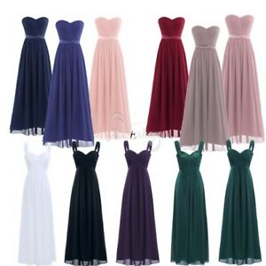 Womens-Long-Chiffon-Dress-Bridesmaid-Wedding-Cocktail-Evening-Party-Ball-Gown