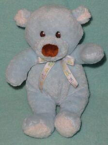 "Baby Gund Pookey Blue Teddy Bear Plush Brown Nose Eyes 5718 Stuffed Soft Toy 8"""
