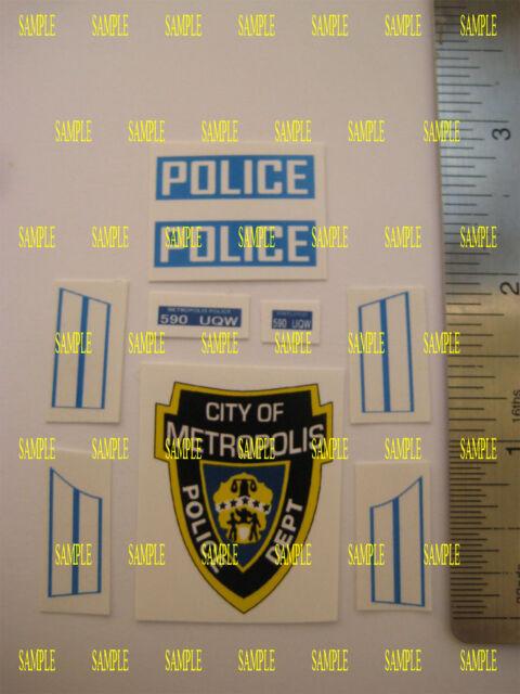 B2G1F Corgi Juniors  J.60 BUICK  Police Car Stickers