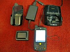 Motorola Mc65 Handheld Barcode Scanner With Extra Battery Amp Charger Holder